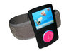 View Item Black Silicone Skin Case Cover &amp; Sports Armband for SanDisk Sansa Fuze 2gb, 4gb &amp; 8gb + FREE Belt Clip &amp; Lanyard